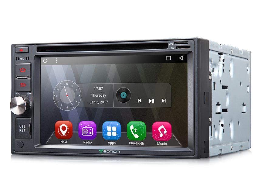 2-DIN Android 6.0 Quad-Core 6.2″ Multimedia Car GPS with Mutual Control Easy Connection