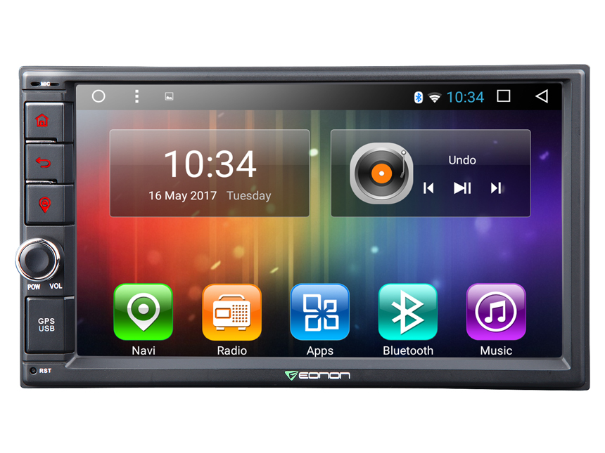 2-DIN Android 6.0 Marshmallow 2GB RAM Quad-Core 7″ Multimedia Car GPS with Mutual Control EasyConnection (Without DVD Function)