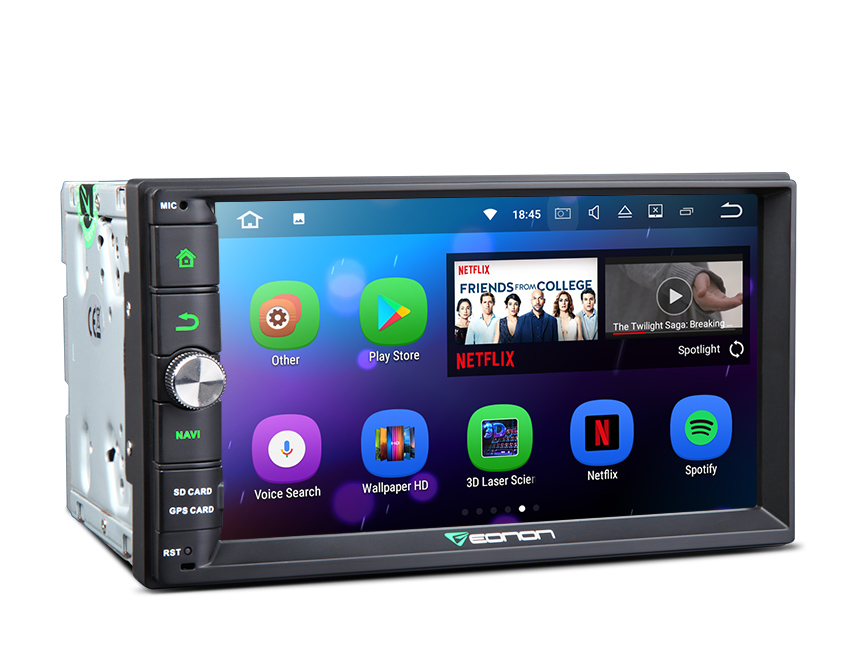New Developed Android 7.1 Aftermarket 2GB-RAM Head Unit Support Bluetooth Backup Camera 1024x600 HD Screen Replacement Universal Navigation GPS Touchscreen Panel 7 Inch Radio Double Din Car Stereo with Split Screen Mode