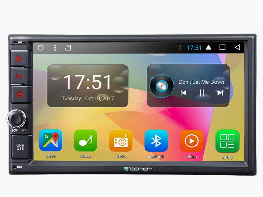 New Android 7.1 2GB-RAM Octa-Core Head Unit Support Bluetooth 1024x600 HD Screen Replacement Universal Navigation GPS Touchscreen Panel 7 Inch Radio Double Din Car Stereo
