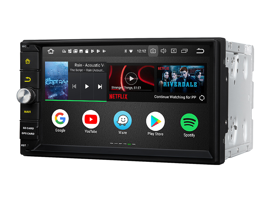Built-in DSP Android 8.0 Oreo 4G RAM Octa-core & 32G ROM Double Din Universal Head Unit GPS Navigation System Split Screen PIP Multitasking Fully Digital Processing Chip