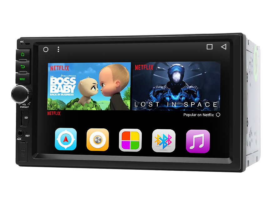 Android 7.1 Octa-Core 1GB RAM 16GB ROM 2 DIN Universal Head Unit 1024x600 HD Touchscreen Panel 7 Inch Radio GPS Navigation Support 4G WiFi Bluetooth Connection