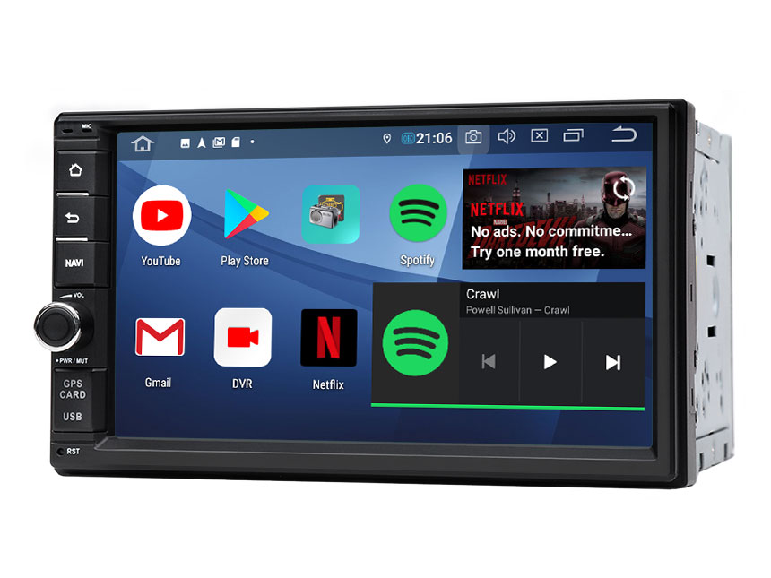 Eonon Android 9.0 Pie Universal Double Din Car Stereo with 7 Inch HD Touchscreen Car GPS Navigation Support Bluetooth 5.0 4G Wi-Fi