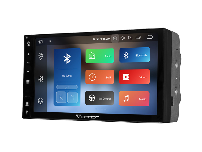 Eonon Android 9.0 Pie Universal Double Din Head Unit with Built-in Android Auto/Apple Car Auto Play 7 Inch Full Touchscreen Car GPS Navigation Support Bluetooth 5.0 4G Wi-Fi