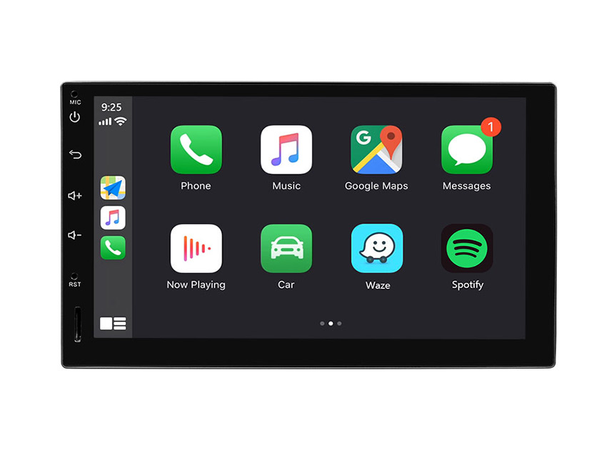 Eonon Android 10 Double Din Car Stereo 7 Inch IPS HD Full Touchscreen Car GPS Navigation with Built-in Apple Car Auto Play DSP Split Screen Multitasking Bluetooth Car Head Unit