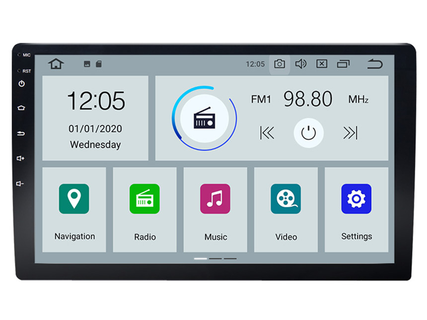 Eonon 10.1 Inch HD Full Touchscreen Android 10 Universal Double Din Car Stereo with Adjustable Screen Viewing Angle