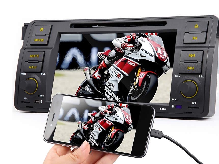 Αποτέλεσμα εικόνας για BMW E46 Android 4.4.4 Quad-Core 7″ Multimedia Car DVD GPS with Mutual Control EasyConnected