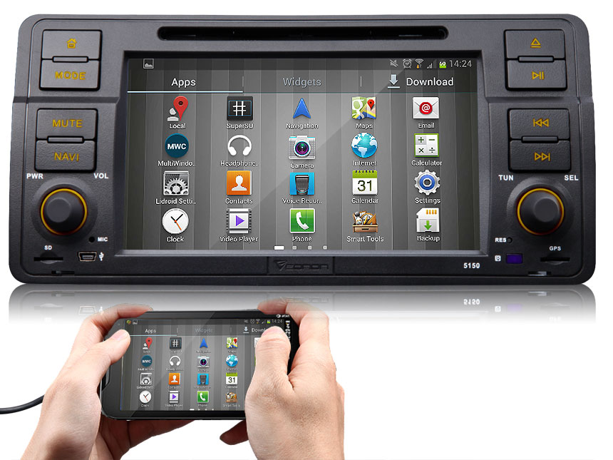 BMW E46 Android 4.4.4 Quad-Core 7″ Multimedia Car DVD GPS with Mutual Control EasyConnected