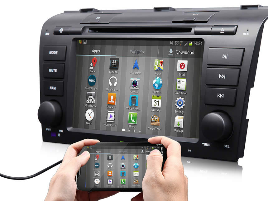 Mazda 3 2004-2009 Android 4.4.4 Quad-Core 7″ Multimedia Car DVD GPS with Mutual Control EasyConnected