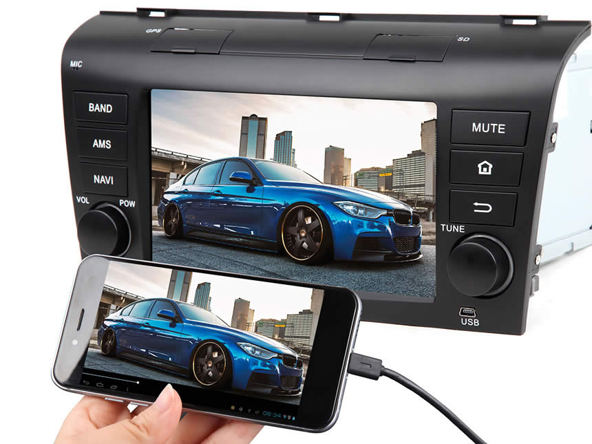 Mazda 3 2004-2009 Android 4.4.4 Quad-Core 7″ Multimedia Car GPS with Mutual Control EasyConnected (Without DVD Function)