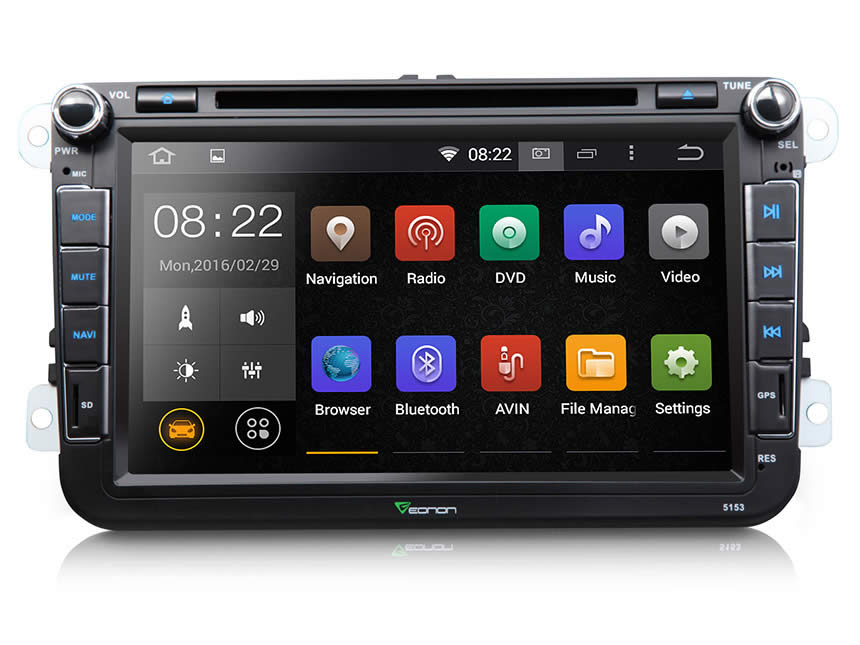Eonon Powerful Android 4.4 Quad-Core Car DVD for VW & Ford are Finally Released!