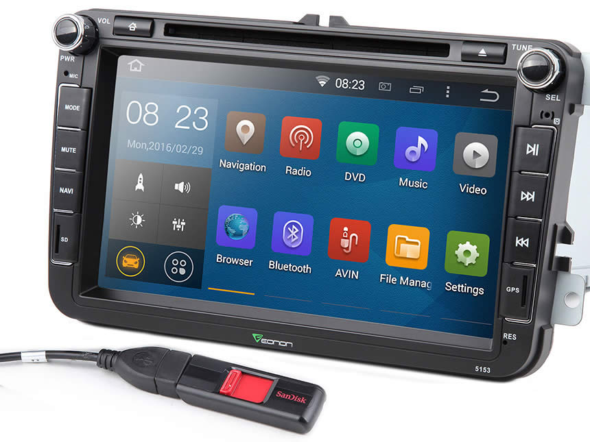Volkswagen Android Car DVD Player