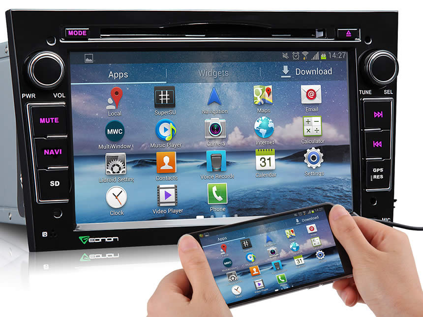Opel /Vauxhall /Holden Android 4.4.4 Quad-Core 7″ Multimedia Car DVD GPS with Mutual Control EasyConnected