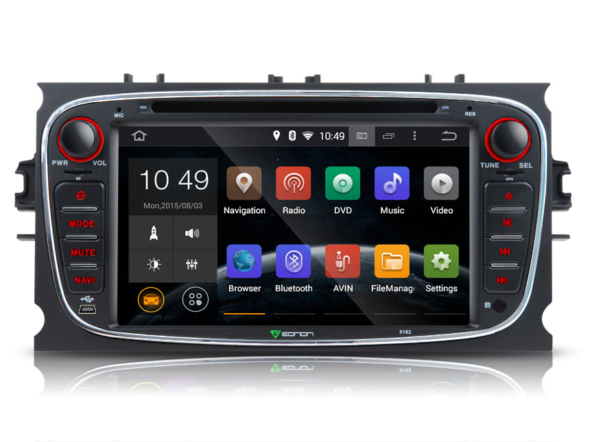 Ford Focus/Mondeo/S-max Android 4.4.4 Quad-Core 7″ Multimedia Car DVD GPS with Mutual Control EasyConnected