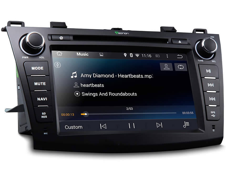 Mazda 3 2010-2013 Android 4.4.4 Quad-Core 8″ Multimedia Car DVD GPS with Mutual Control EasyConnected