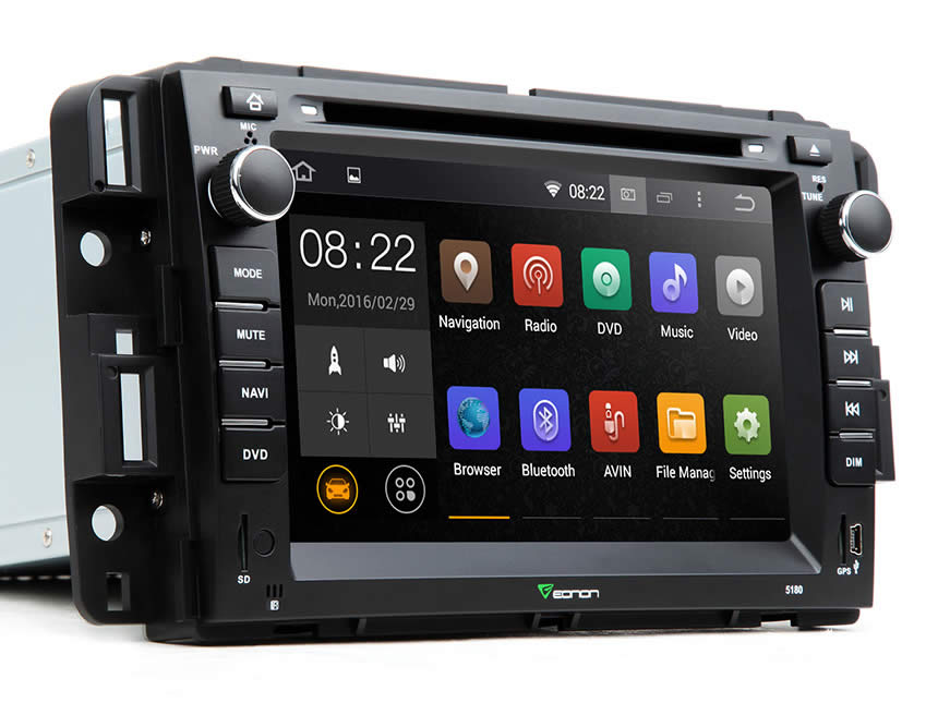 Double din car stereo with bluetooth and navigation 11