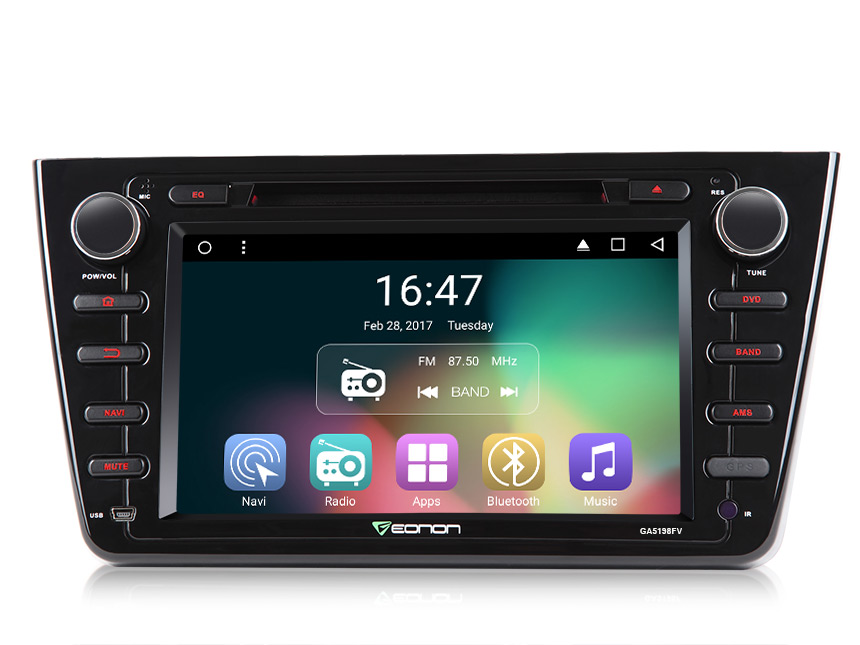 Mazda 6 2009-2012 Android 6.0 Marshmallow Quad-Core 8″ Multimedia Car DVD GPS with Mutual Control Easy Connection