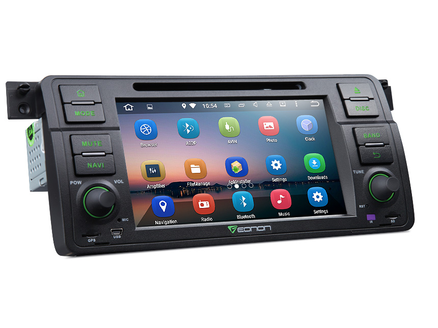 BMW E46 Android 5.1.1 Lollipop Quad-Core 7″ Multimedia Car DVD GPS with Mutual Control EasyConnection