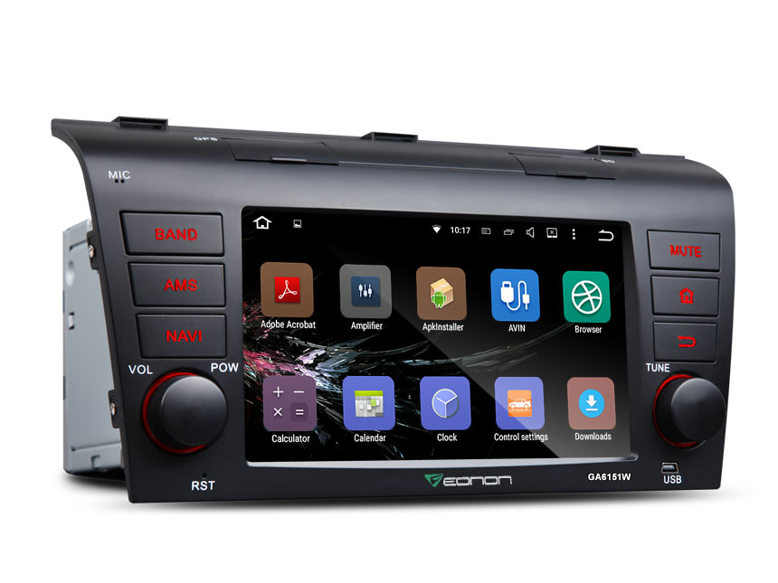 Mazda 3 2004-2009 Android 5.1.1 Lollipop 7″ Multimedia Car GPS with Mutual Control Easy Connection (Without DVD Function)