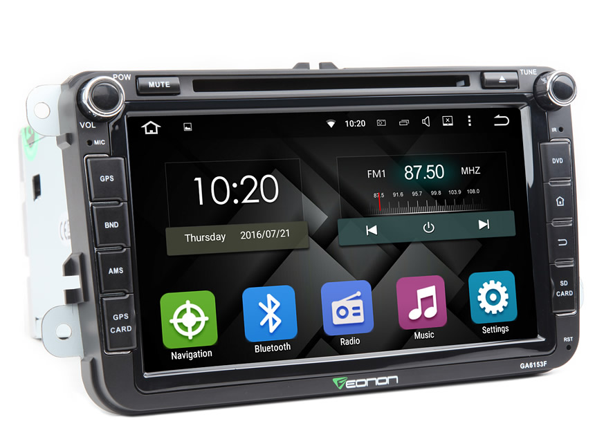 Volkswagen(VW) Android 5.1.1 Quad-Core 8″ Multimedia Car GPS with Mutual Control EasyConnection