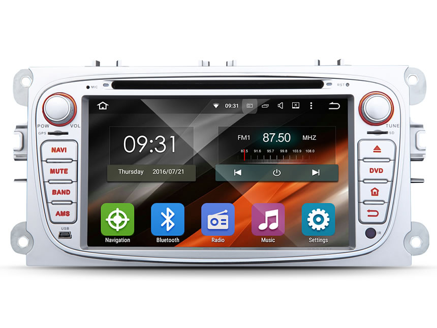 Ford Focus/Mondeo/S-max Android 5.1.1 Lollipop Quad-Core 7″ Multimedia Car DVD GPS with Mutual Control EasyConnection