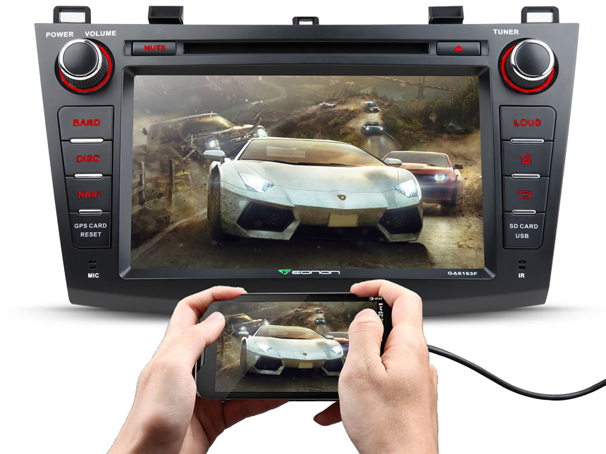 Mazda 3 2010-2013 Android 5.1.1 Lollipop 8″ Multimedia Car DVD GPS with Mutual Control EasyConnection
