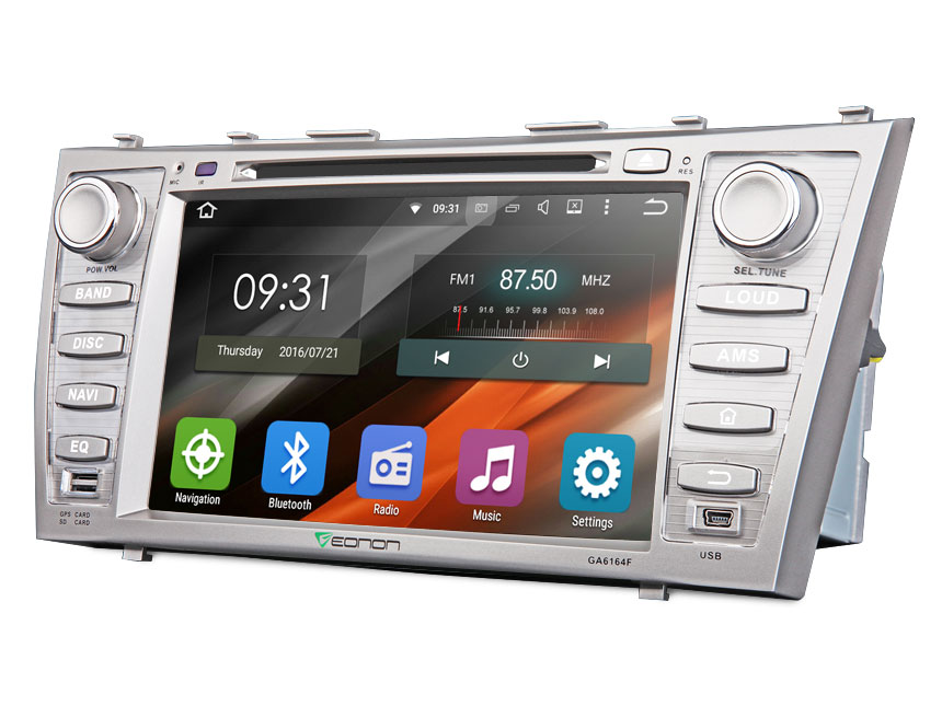 "Toyota Aurion/Camry Android 5.1 Quad-Core 8"" HD Screen Multimedia Car DVD GPS with Bluetooth FM Receiver Car Audio Video Player Double Din Radio with Dashcam Mutual Control EasyConnection"