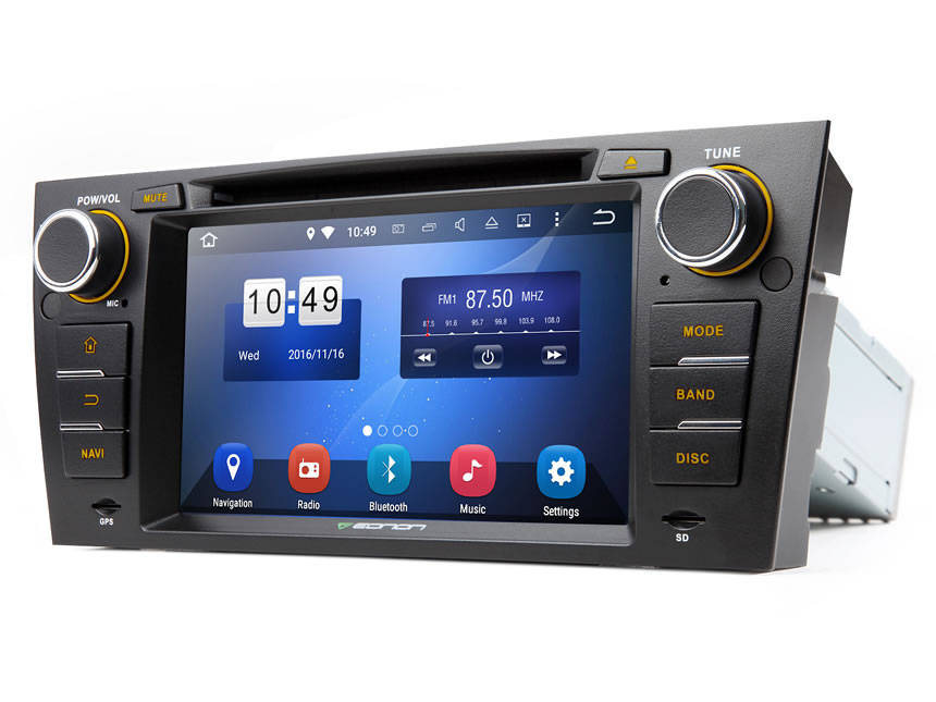 BMW E90/E91/E92/E93 Android 5.1.1 Lollipop Quad-Core 7″ Multimedia Car DVD GPS with Mutual Control Easy Connection