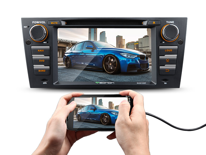 BMW E90/E91/E92/E93 Android 5.1.1 Lollipop Quad-Core 7″ Multimedia Car DVD GPS with Mutual Control EasyConnection
