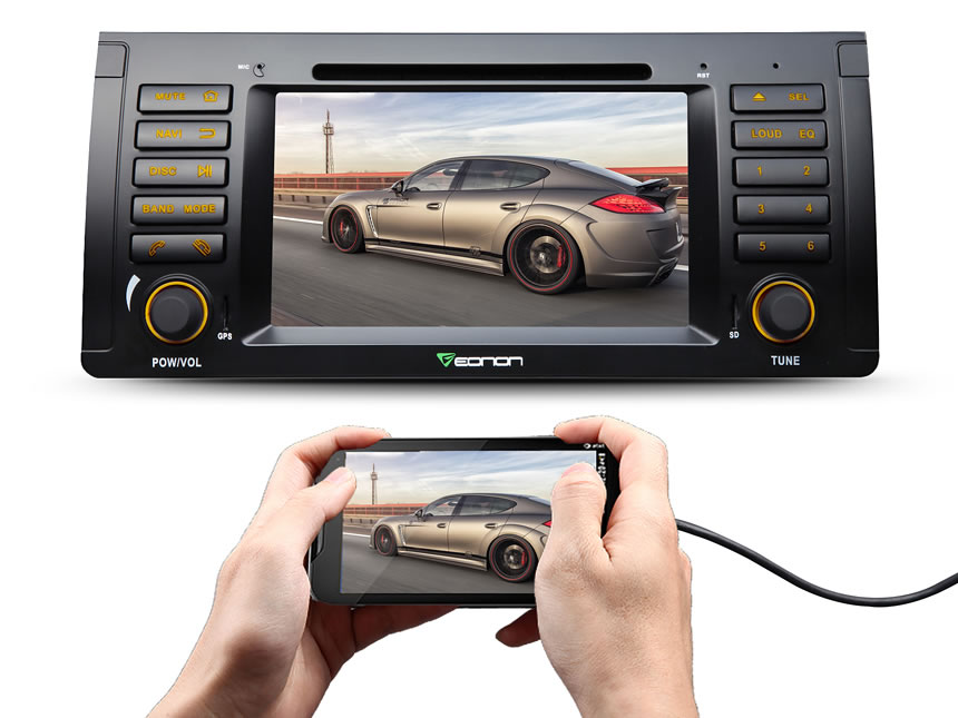 BMW E53 Android 5.1.1 Lollipop 7″ Multimedia Car DVD GPS with Mutual Control EasyConnection & Free Extended Wiring Harness