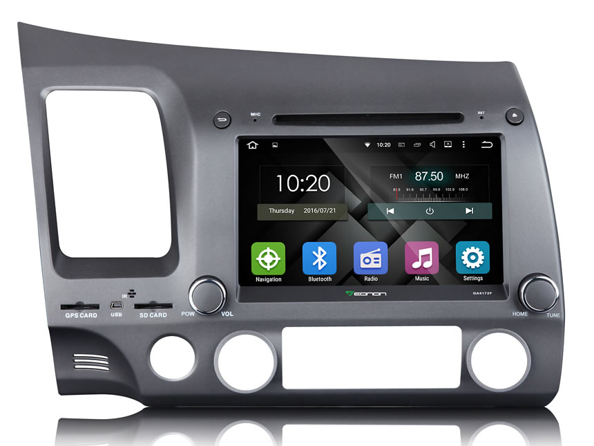 Honda Civic Android 5.1.1 Lollipop 8″ Multimedia Car DVD GPS with Mutual Control EasyConnection
