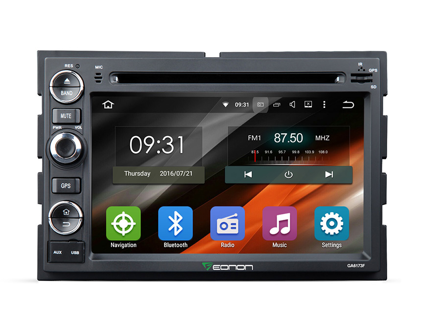 Ford F   Lollipop Car Radio Double Din In Dash Bluetooth Car Stereo