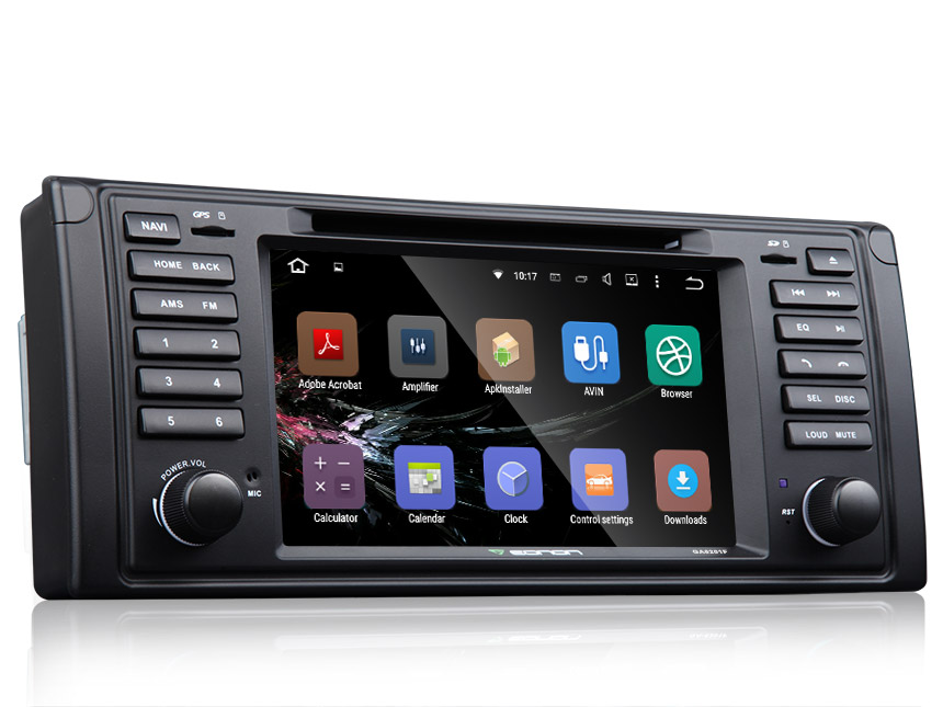 BMW E39 Android 5.1.1 Lollipop Quad-Core 7″ Multimedia Car DVD GPS with Mutual Control EasyConnection