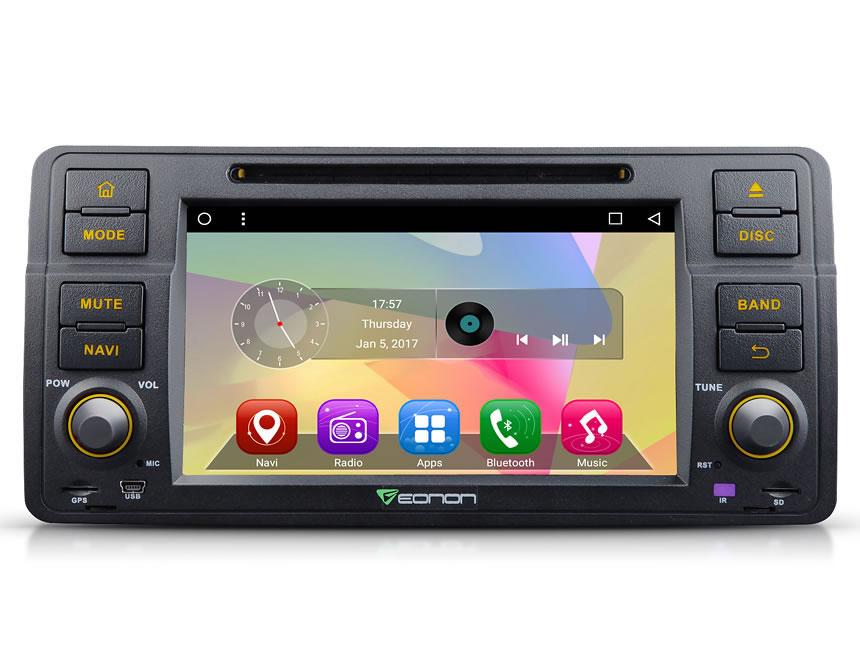 BMW E46 Android 6.0 Marshmallow Quad-Core 7″ Multimedia Car DVD GPS with Mutual Control Easy Connection