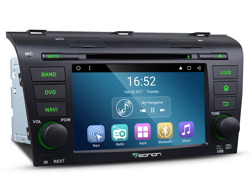 Eonon Ga7151 Mazda 3 20042009 7 Inch Hd 1024x600 Touch Screen Rheonon: 2005 Mazda 3 Radio Aux Head Unit At Gmaili.net