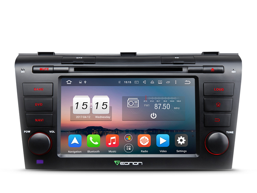 Mazda 3 2004-2009 Android 6.0 Marshmallow 2GB RAM Octa-Core 7″ Multimedia Car DVD GPS with 32GB ROM & 26GB for Apps