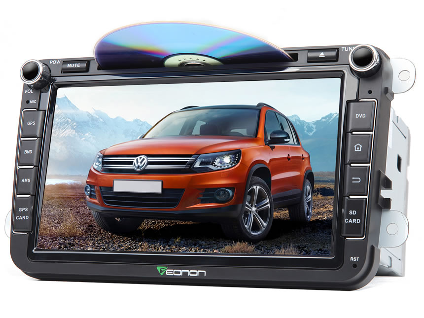 Volkswagen(VW) Android 6.0 DAB+ Octa-Core Car Stereo DVD Player 2GB RAM 8 Inch In Dash Car GPS Navigation System With 3G 4G WiFi Connection Double Din In dash Touch Screen Mirror Bluetooth Car Head Unit