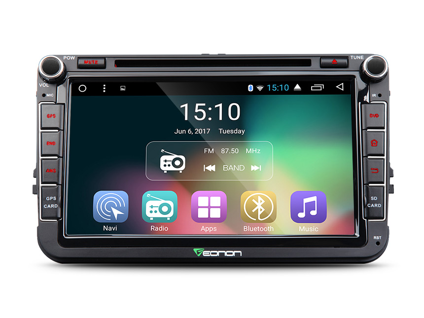 "Volkswagen(VW)/SEAT/SKODA Android 6.0 Marshmallow 2GB RAM Quad-Core 8"" Double 2 Din 16GB ROM In Dash Car MP3 Touch FM Radio Stereo Bluetooth Music Player with EasyConnection Airplay Mirroring Media Receiver"