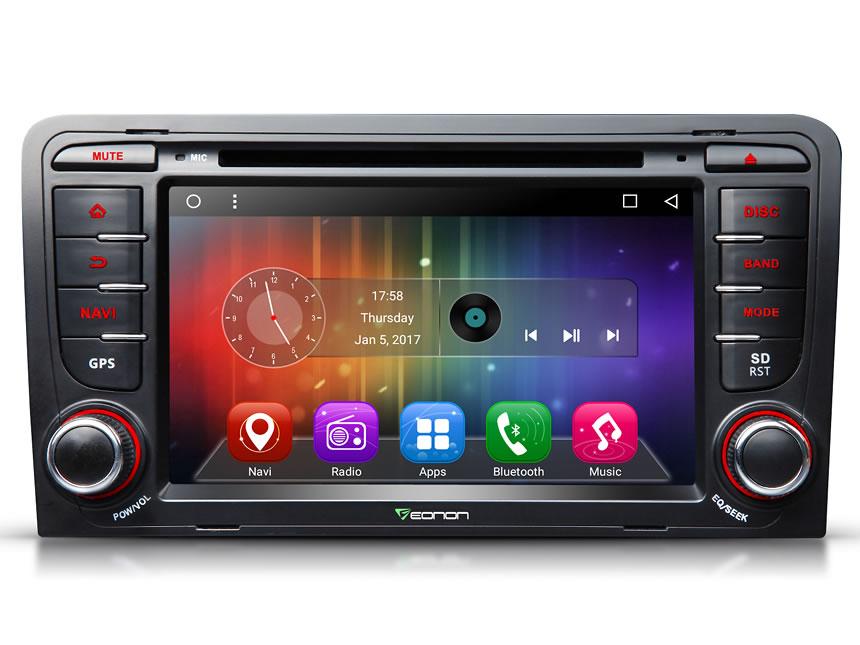 eonon ga7157 audi a3 s3 android 6 0 double din 7 inch hd digital rh eonon com Audi A3 LED Headlights Tesla Model S Navigation