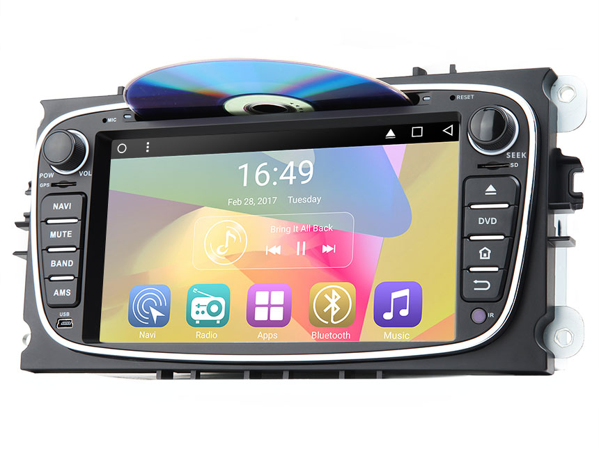 Ford Focus/Mondeo/S-max Android 6.0 Marshmallow Quad-Core 7″ Multimedia Car DVD GPS with Mutual Control EasyConnection