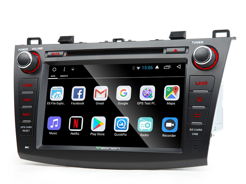 Mazda 3  2010 - 2013 Android 6.0 Marshmallow 2GB RAM Quad-Core 8″ Multimedia Car DVD GPS with Mutual Control EasyConnection