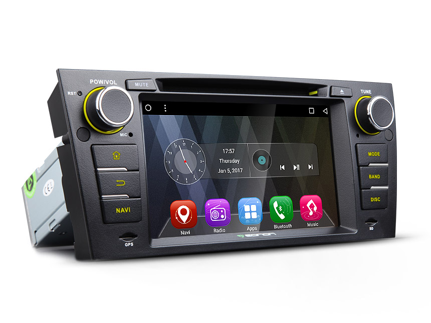 BMW E90/E91/E92/E93 Android 6.0 Marshmallow Quad-Core 7″ Multimedia Car DVD GPS with Mutual Control Easy Connection