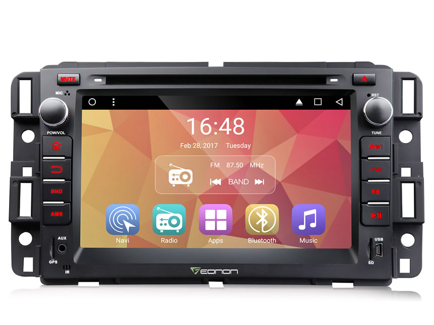 Chevrolet, GMC & Buick Android 6.0 Marshmallow 7″ Multimedia Car DVD GPS with Mutual Control Easy Connection