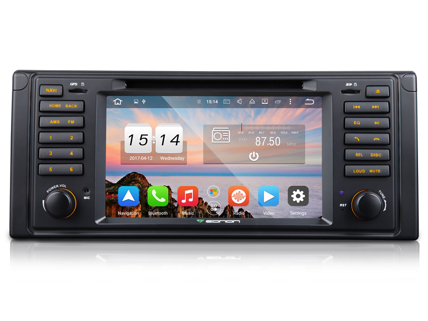 BMW E39 1995-2002 Android 6.0 Car DVD Bluetooth Receiver 2 GB RAM Octa-core Car GPS Navigation System 7 Inch HD Capacitive Touchscreen Multimedia Car DVD Player with 32GB ROM & 26GB for Apps In Dash Car Radio With Steering Wheel Control 3G WiFi Connection