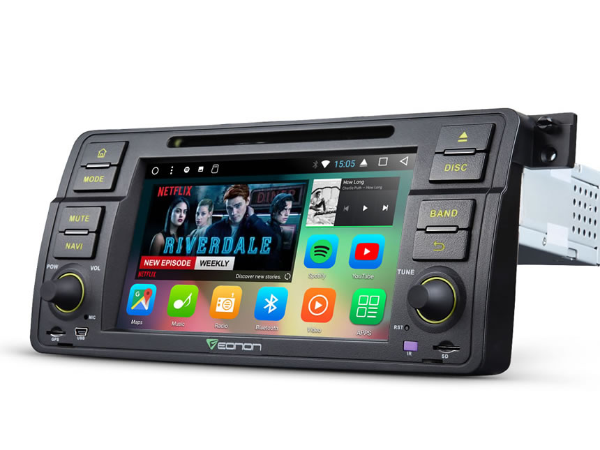 BMW E46 Android 7.1 Octa-Core 2GB RAM Car Radio GPS Navigation System 7 Inch 1 Din Multimedia Car DVD CD Player With 32GB ROM & 26GB for App Installation Support Bluetooth WiFi Connection Split Screen Steering Wheel Control