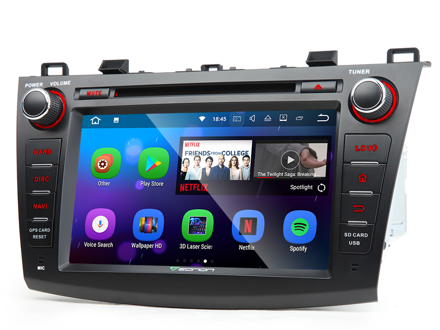 """Mazda 3 2010 - 2013 Double DIN 8"""" Android 7.1 HD Digital Multi-touch Screen 1080P Video Indash Head Unit Split-screen Mode HDMI Output Transmits Radio Receiver GPS Car Audio Bluetooth DAB+ with More Entertainment"""
