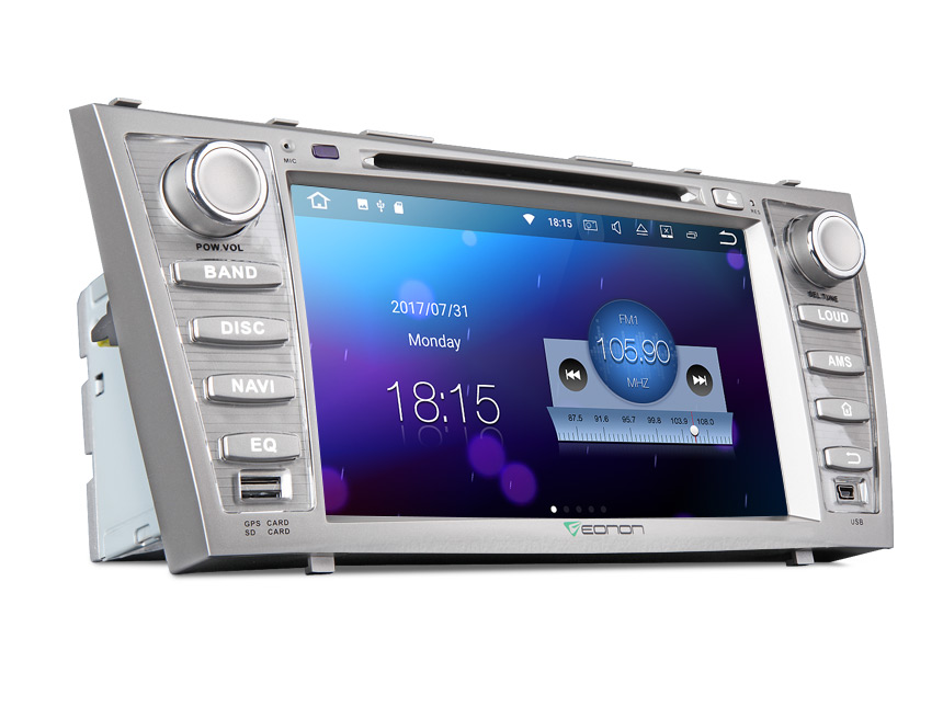 Toyota Aurion/Camry Android 7.1 Aftermarket Car Radio With 8 Inch Full Capactive Touch Screen Double Din Car DVD Player 2GB RAM Bluetooth WiFi Head Unit Receiver Android Car GPS Navigation With Mutual Control EasyConnection