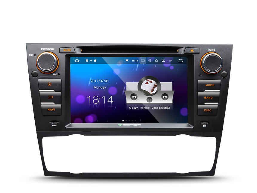 BMW E90/E91/E92/E93 Android 7.1 Head Unit 7 Inch HD Digital Touch Panel In Dash DVD CD Receiver With Built in Bluetooth 2GB RAM 16GB RAM Quad-core Car Entertainment Multimedia Radio In Dash Car Stereo GPS Navigation