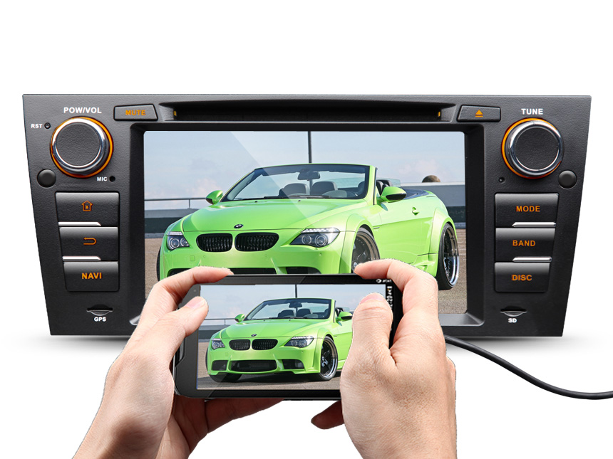 BMW E90/E91/E92/E93 Android 7.1 Car DVD Radio Player With Built-in Bluetooth 7 Inch HD Touchscreen 1 DIN In-Dash DVD/CD/AM/FM Car Stereo Receiver With Steering Wheel Control Octa-core 2GB RAM Car Head Units GPS Navigation System With Subwoofer Audio Output DAB+ Digital Radio