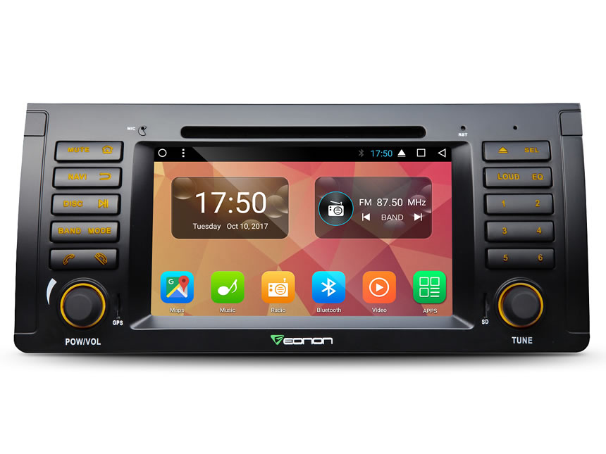 "BMW E53 1999-2005 Android 7.1 Nougat Octa-core 2GB RAM 32GB ROM Car DVD CD Player 7"" HD Touchscreen Multimedia In Dash Car Head Unit Built-in Bluetooth Radio Receiver with Split Screen Multitasking GPS Navigation System"